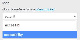 icon button call to action menu radio wordpress theme header