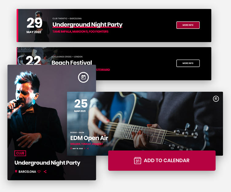 radio wordpress theme events