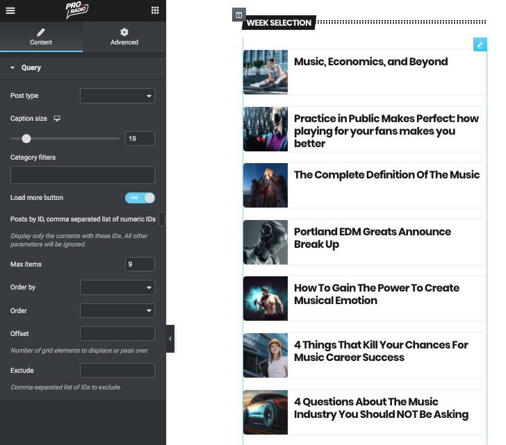post inline radio widget